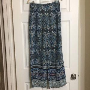 Blue-Multi Bohemian Chic Pants